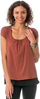 product image for Majamas The Orchard Maternity Nursing Double Layer Top - Picante(Rust) - Medium