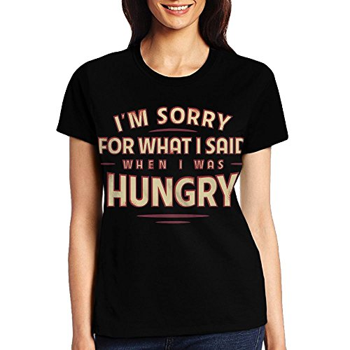 JDJ N1N What I Said When I Was Hungry Women's Crew Neck Shirts T Shirts