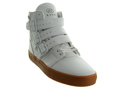 Amazon.com | Radii Straight Jacket Vlc Mens White Leather High Top ...