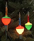 Northlight Seasonal Multicolored Retro Christmas Bubble Lights with Green Wire, Set of 7