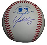 Cleveland Indians Yonder Alonso Autographed Hand Signed Baseball with Proof Photo of Signing and COA, Seattle Mariners, Oakland Athletics A's, San Diego Padres, Cincinnati Reds