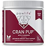 pawlife Cranberry for Dogs - UTI and Bladder Support for Dogs - Grain Free Antioxidant Formula with D-Mannose for Urinary Tract Health - 120 Chicken Flavored Soft Chews