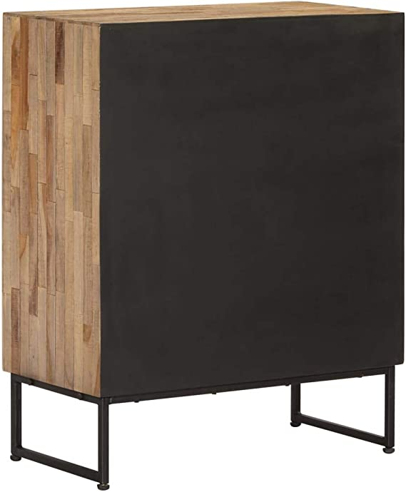 Festnight Estilo Retro e Industrial Aparador de Madera de Teca Reciclada con 2 Cajones y 1 Compartimento Hecho a Mano 60x30x75 cm: Amazon.es: Hogar