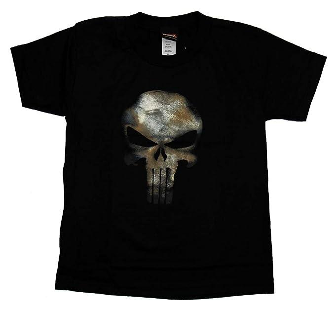 El Castigador Frank Castle calavera Marvel Comics disfraz uniforme juvenil camiseta: Amazon.es: Ropa y accesorios