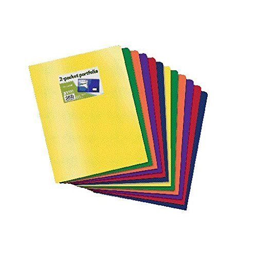 (Better Office Products Poly 2 Pocket Folders Heavyweight, 36 Piece)