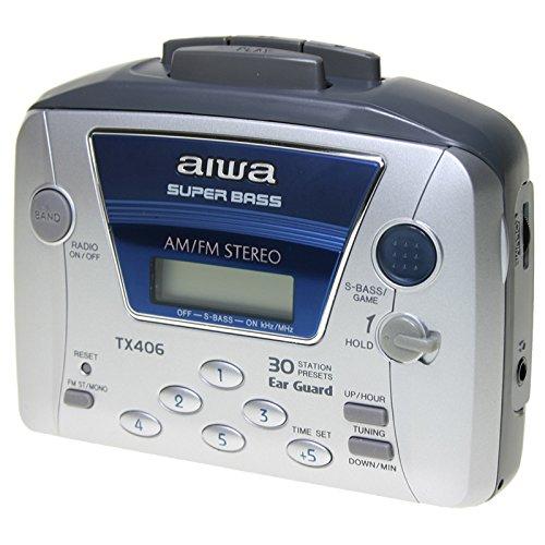 AIWA WALKMAN HSTX-406 CASSETTE RADIO AVEC AM / FM ET 30 MEMORIAS-SUPER BASS