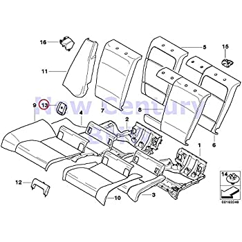 Amazon Com Bmw Genuine Seat Rear Uphlstrycover Load Through Cover