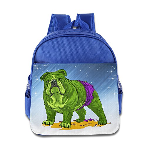 Spotlight Superhero Costumes (D2 Cute Hulk Dog Kids' Backpack For 3-6 Years Old Child RoyalBlue Size One Size)