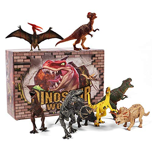 12 Pack Dinosaur Toys Educational Realistic Jumbo Large Dinosaurs Figures T-rex Triceratops Velociraptor for Boys Toddlers
