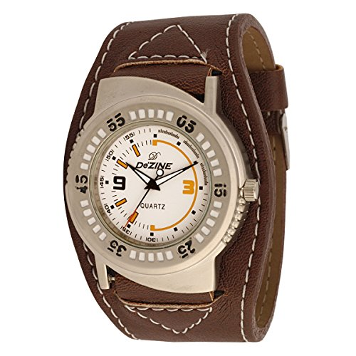 Dezine #39;s White dial Sporty Analog watch DZ GR100 WHT BLK