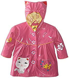 upc 643762395450 product image for Kidorable Little Girls' Lucky Cat All Weather Waterproof Coat, Pink, Size 4/5   barcodespider.com