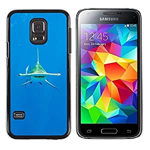 Design for Girls Plastic Cover Case FOR Samsung Galaxy S5 Mini, SM-G800 Shark Diving Ocean Tropical Water Sea OBBA