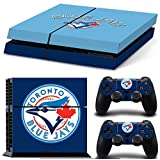 Ps4 Playstation 4 Console Skin Decal Sticker Toronto Blue Jays + 2 Controller Skins Set