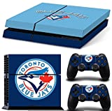 Consoles Ps4 Best Deals - Ps4 Playstation 4 Console Skin Decal Sticker Toronto Blue Jays + 2 Controller Skins Set