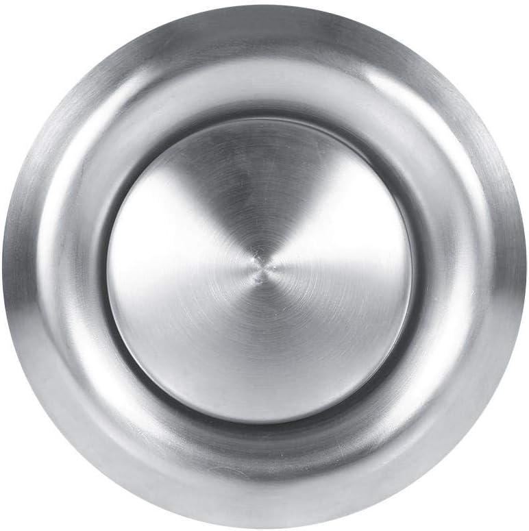 Rejilla de ventilación redonda de acero inoxidable, cubierta de ventilación de ventilación, para el hogar, pared, difusor de techo, fuente de escape para baño, oficina, cocina, ventilación