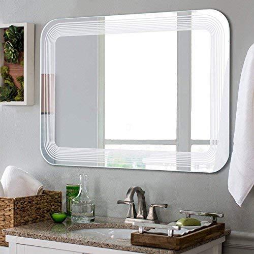 Tangkula Led Mirror Wall Mount Lighted Mirror Bathroom