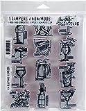 Tim Holtz CMS336 Cling Stamps 7''X8.5'' Mini Blueprints, Multi
