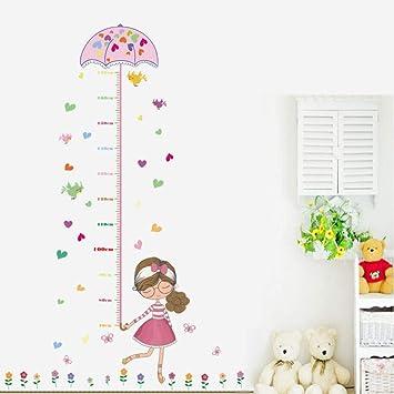 Chica soporte paraguas altura pegatinas sala de estar dormitorio pared pegatinas vidrio puertas y ventanas TV fondo decoración PVC autoadhesivo extraíble pegatinas 50 * 70 cm: Amazon.es: Bricolaje y herramientas