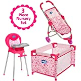 Chicco. Deluxe Nursery Time Fun for Baby Dolls Play Set, Pink