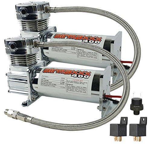 WnP airmaxxx 400 Air Ride Suspension Dual Compressors (chrome)