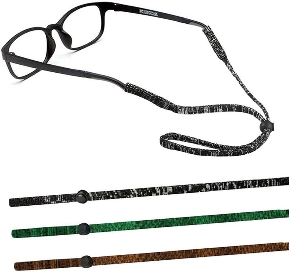 TERAISE 3pcs Cadena De Gafas Ajustable Correa De Retención De Gafas Suave Deportes Al Aire Libre Para Hombres Mujeres Niños
