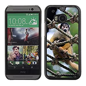 GoGoMobile Slim Protector Hard Shell Cover Case // M00124724 Monkeys Apes Squirrel Monkey Animal // HTC One M8