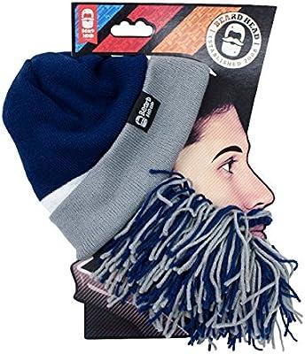 Dallas Cowboys Navy Blue Grey Knit Football Beard Ski Face Mask /& Winter Hat