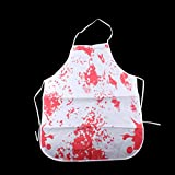 Tinksky Horror Bloody Apron Novelty Fancy Dress Butchers Chef Kitchen Unisex Cook Adult for Halloween Costume Party halloween horror nights
