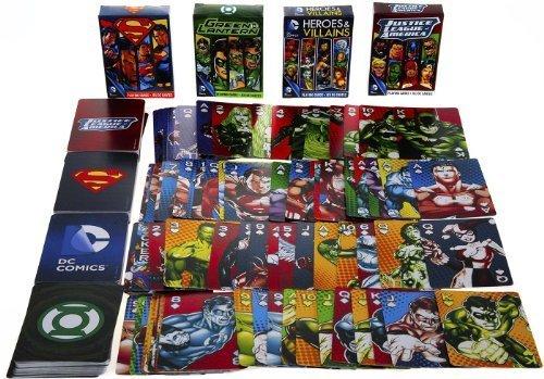 DC COMICS Themed Playing Cards _ Assort #2 _ Bundle 4 Unique Decks