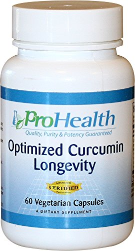 ProHealth Optimized Curcumin Longevity with Neurophenol - Wild Blueberry and Grape Extracts (60 vegetarian capsules - 30 day supply)