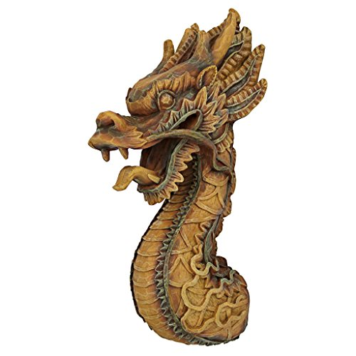 Design Toscano NG33987 The Fire Dragon Wall Sculpture, Single