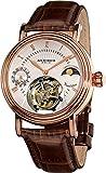 Akribos XXIV Men's AKR493RG Genuine Mechanical Tourbillon Moonphase Watch