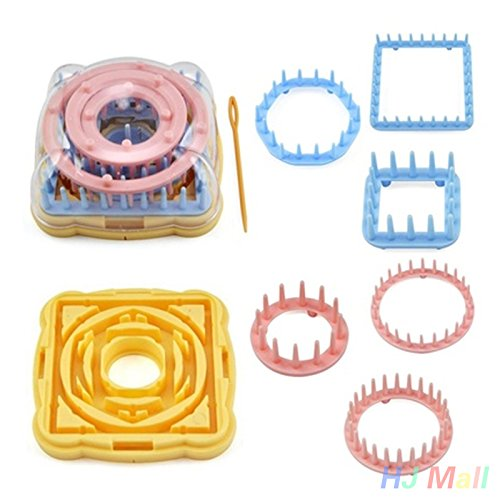 Kicode Kit per tessitore a maglia per tessitore a fiore con ago Confezione da 9