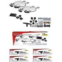 4 Door Electric Car Truck Power Window Door Lock Conversion Kit Roll Up Switches