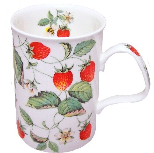 Roy Kirkham Strawberries Fine Bone China Lancaster Mug