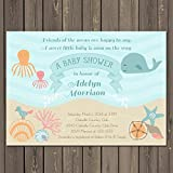 ocean baby shower invitation under the sea baby shower invite sea baby shower