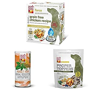 The Honest Kitchen Starter Kit - Natural Grain Free Chicken Dog Food, Digestive Supplement and Toppers - Force, Perfect Form & Proper Toppers