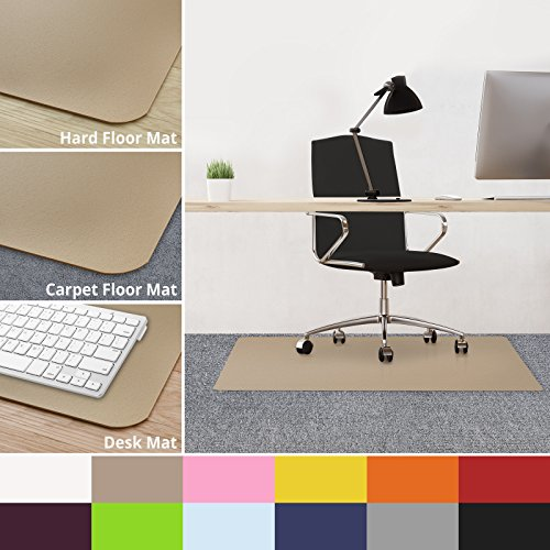 Beige Protector Case - casa pura Office Chair Mats for Carpeted Floors - 30