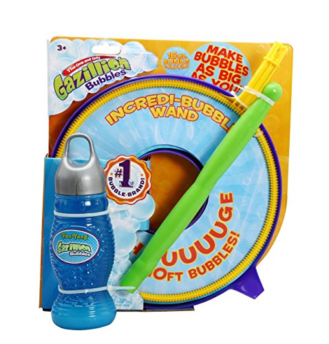 Gazillion Incredibubble Giant Bubbles Wand with Giant Bubble Solution