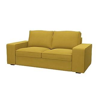 Soferia - IKEA KIVIK Funda para sofá de 2 plazas, Elegance Dark Yellow