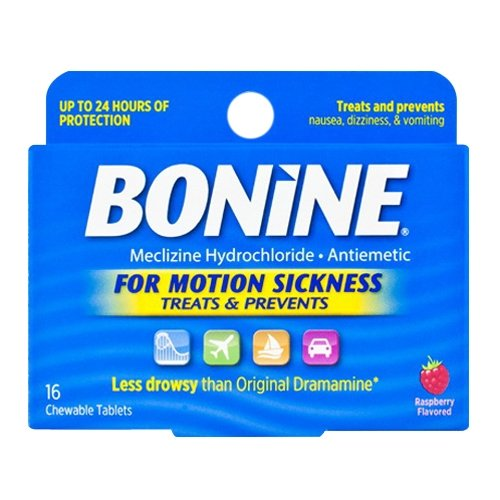 Bonine Motion Sickness Tablets, Raspberry, 16 - Pills Motion Sickness