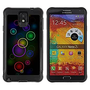 "Hypernova Defender Series TPU protection Cas Case Coque pour SAMSUNG Galaxy Note 3 III / N9000 / N9005 [Círculos coloridos""]"
