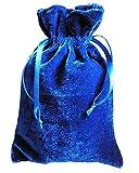 Tarot/rune Dice Gift Bag Royal Blue Velvet Drawstring Bag 6x9