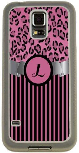 "Rikki Knight Letter ""L"" Light Pink Leopard Stripes Monogr..."