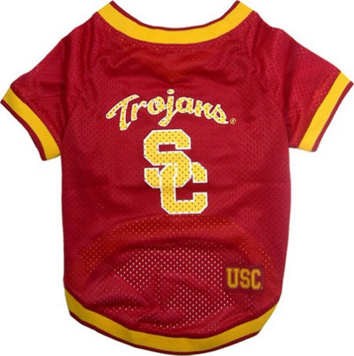 [NCAA Dog Jersey, Large, University of Southern California Trojans] (Usc Fan Costume)
