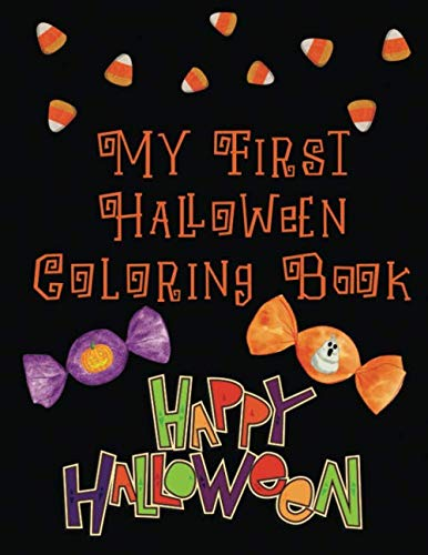 Simple Halloween Witch Drawing (My First Halloween Coloring Book: Simple Halloween Inspired Designs for Young Children (Holiday Coloring Books For Kids ages 4 and)