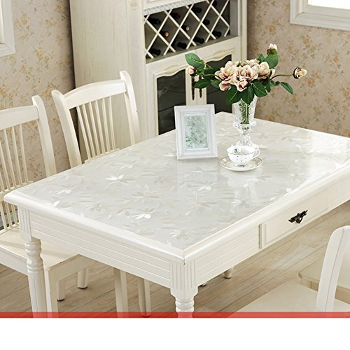 Pvc,waterproof table cloth/ burn-proof, soft glass table mat /transparent,frosted coffee table pad/ plastic tablecloths/crystal plate table mat-B 90x160cm(35x63inch) by HAKLLASDFNFDES (Image #2)