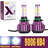 Automotive : 9006 HB4 LED Headlight Bulbs 20000LM 200W Cool White 6000K Replace Low Beam/High Beam/Fog Light 360 Degree 4 Side COB Chips Super Bright Auto Conversion Kit Plug & Play -2 Yr Warranty