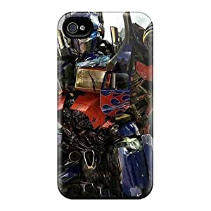 BLBNdIb553LpWxy Case Cover, Fashionable Iphone 4/4s Case - Optimus Prime In New Transformers 3