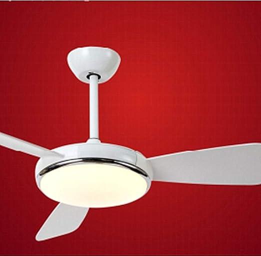 Nórdico Ventilador De Techo con Mando A Distancia Luz De Tri-Tono Led 6 Velocidad De Ajuste Diseño Cronometrado Plafón del Dormitorio Infantil,52,Awhite: Amazon.es: Hogar